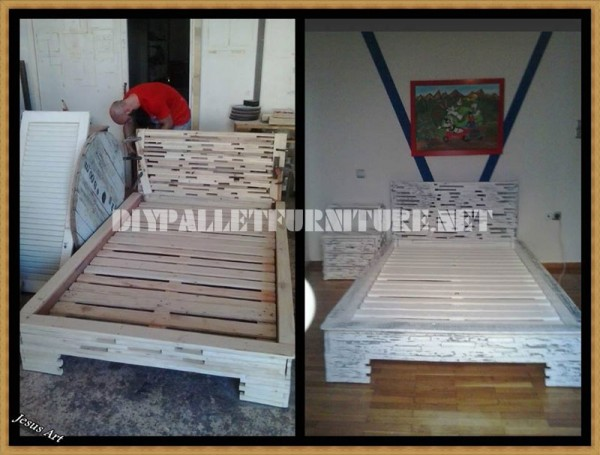 Design bed with pallets 1