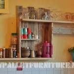 Kitchen shelf with pallets