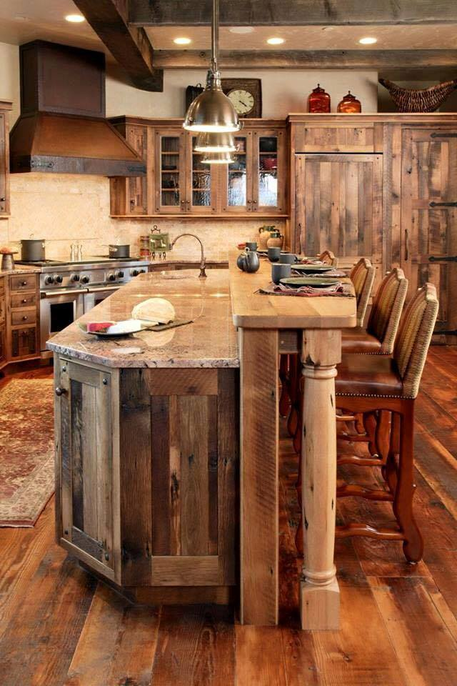 Kitchen with pallets