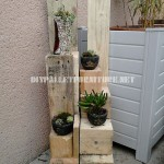 Planters with wooden blocks