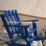 Rocking chair for children with pallets