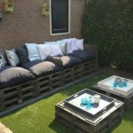 Sofa and double pallet table for the garden