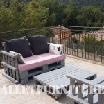 The pallet sofas from Marie for the terrace