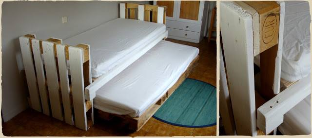 Trundle bed made with pallets 1