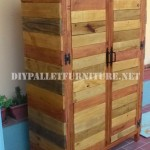 Wardrobe made with pallet planks
