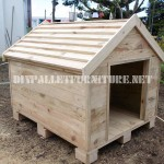 Dog house built with pallets