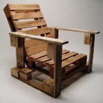 Industrial chair made with pallets