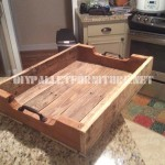Pallet tray using pallet planks