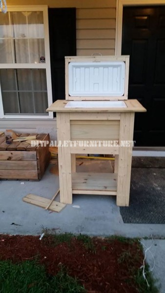 Refrigerator made with pallets 3
