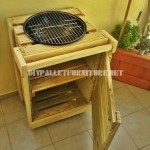 Barbecue built with pallets