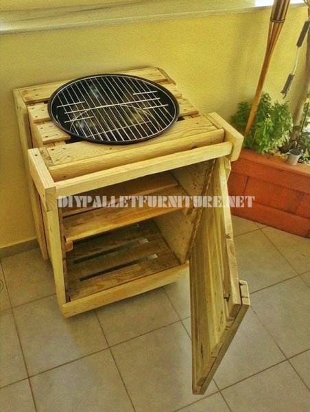 Barbecue built with pallets 2