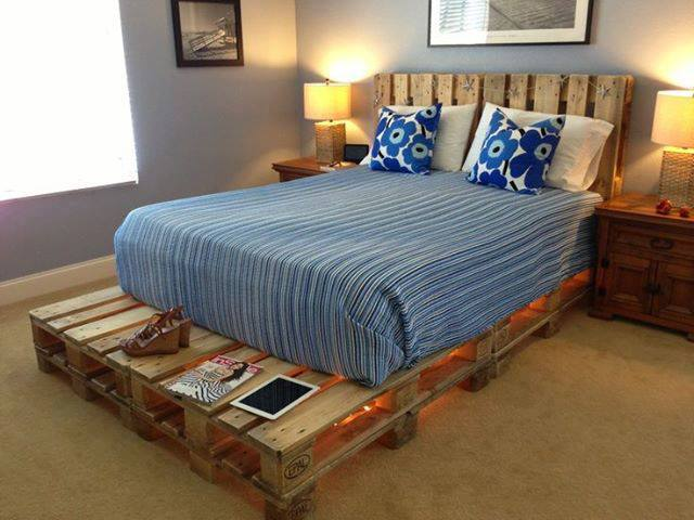 Bed frame made with pallets 2