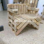 Chair built with pallets