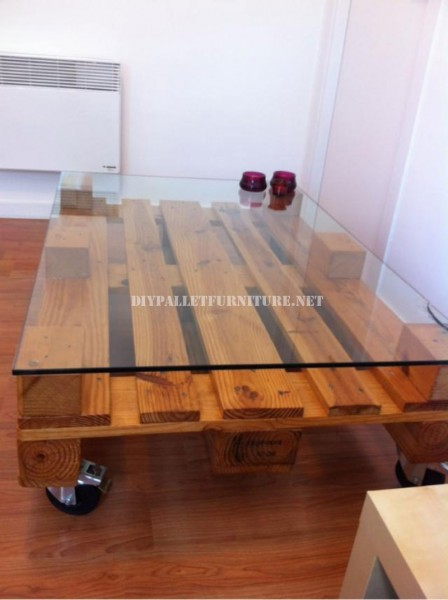 Coffee table with pallets 3