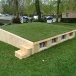 Outdoor library built with pallets