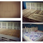 Triple bed made with pallets