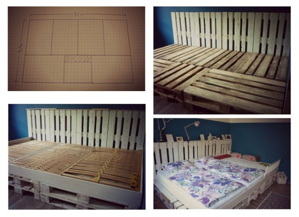 Triple bed made with pallets 2