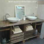 Bathroom countertop using fruit boxes