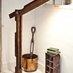 Folding foot lamp made with pallets