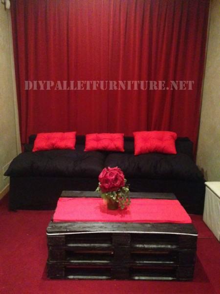 Pallet furniture for a living room 1