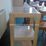 Pallet shelves and a table for the living room