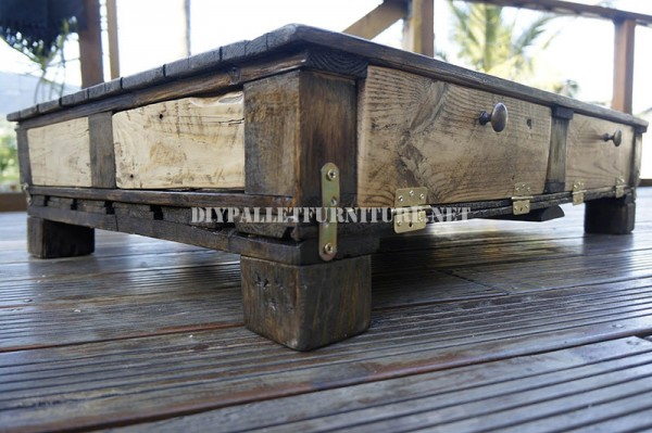 Rustic living room table 4