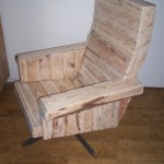 Solid armchair with pallets