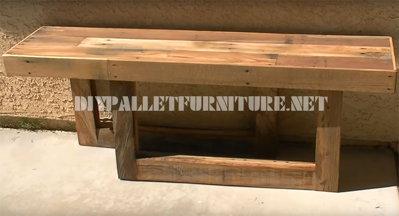 Video of how to build a bench with only 3 pallets 1