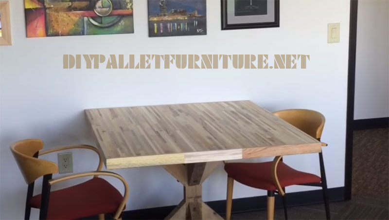 Video on how to make a table for meetings with pallet planks 2