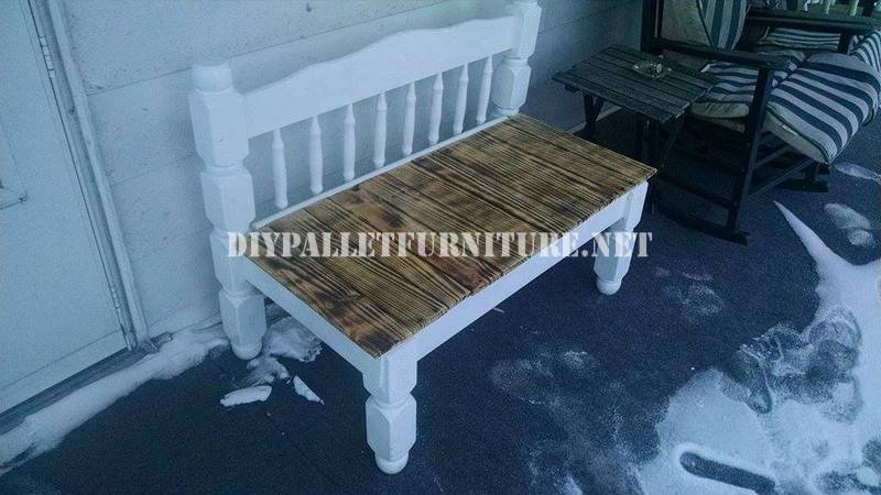 Bench built with a bed and a pallet 1