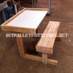 Desk made of pallet planks
