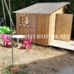 Playhouse built with pallets