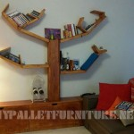 Shelving and furniture for the living room with tree shape
