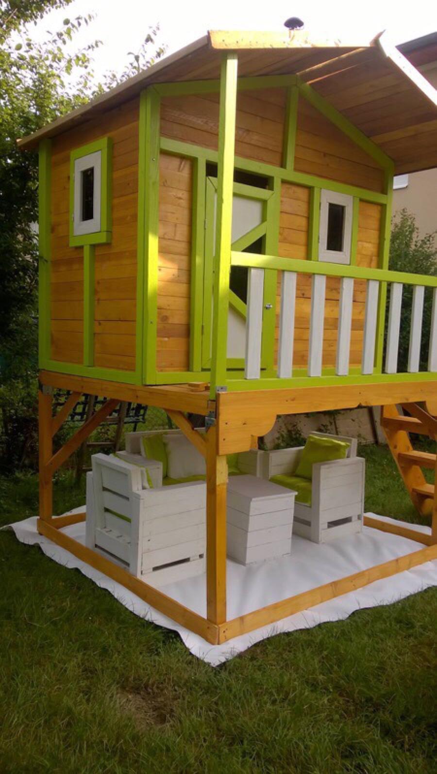 Petite cabane de jardin pour les enfantsmeuble en palette - Casa de palets para ninos ...