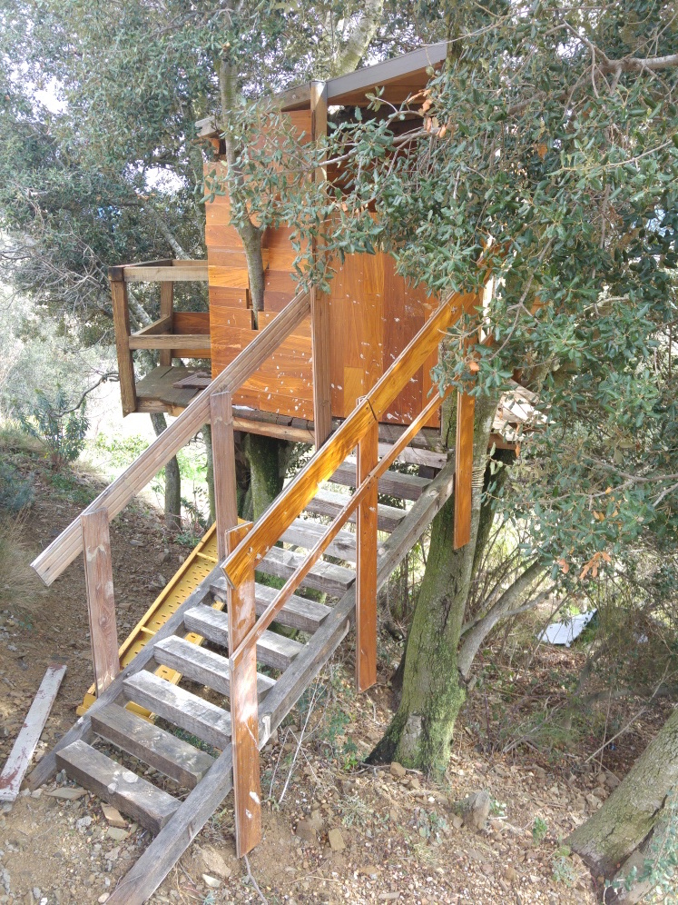A treehouse with pallets 3