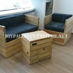 Armchair, sofa and table with pallets