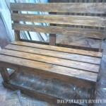 Bench with pallet planks