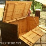 Double gate chest with pallets