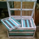Glass table with pallets
