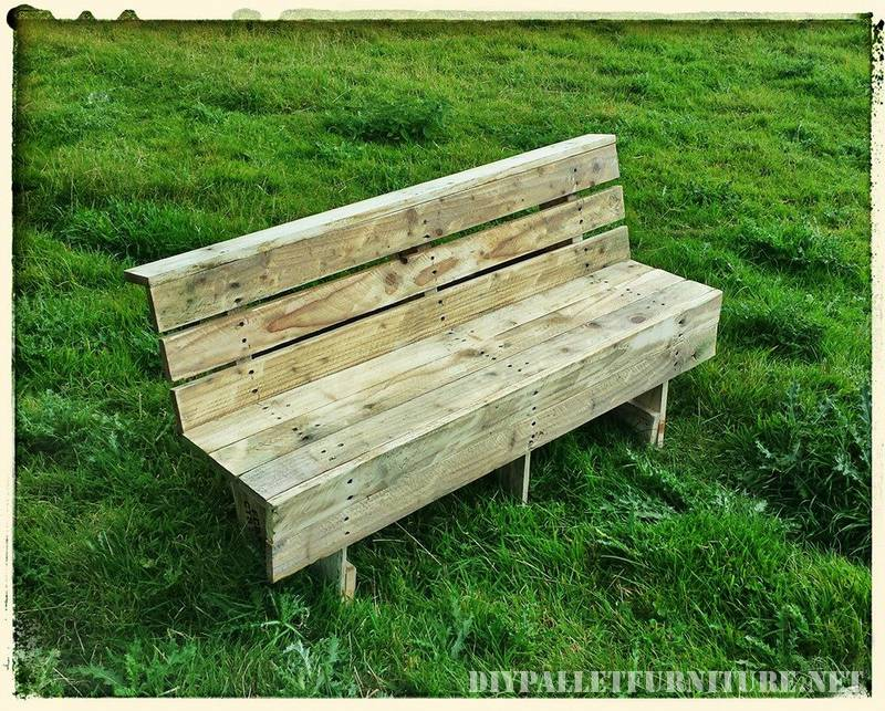 Nice pallets bench 1