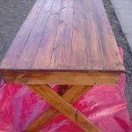 Outdoor table with pallets
