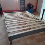 Bedframe made with pallets