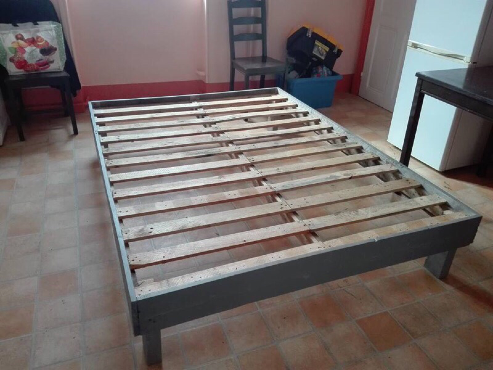 Bedframe Made With PalletsDIY Pallet Furniture DIY Pallet Furniture