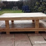 Double height pallet table