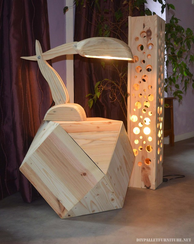 Beautiful designer lamps made with pallets 2