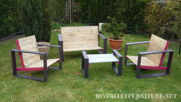 Design furniture for your garden with pallets 1