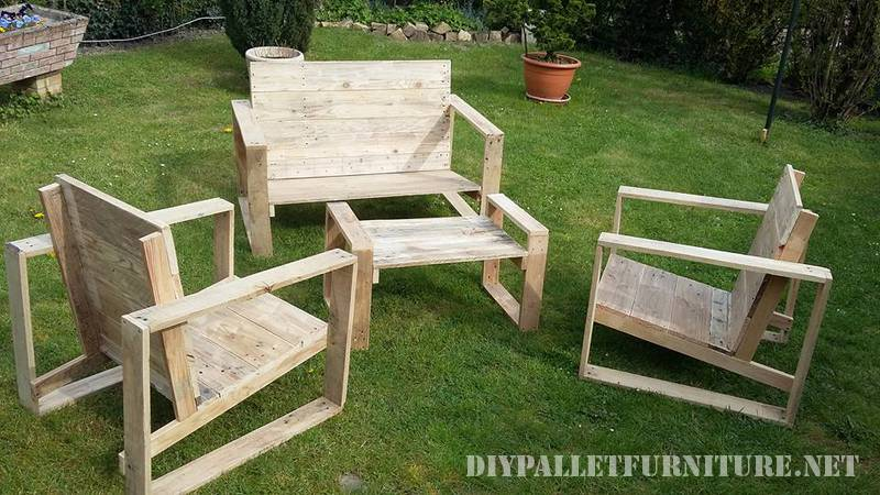 Design furniture for your garden with pallets 2