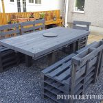 Pallets garden dining set