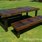 Outdoor table and benches with a great finish