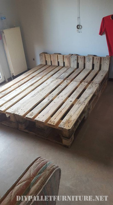Pallet bed structure 1